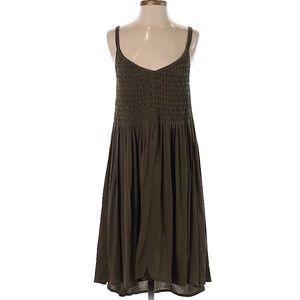 Lucky brand olive green sleeveless dress sz XL